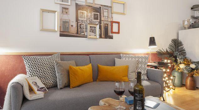 Living room at Sao Bento Edifice Apartments