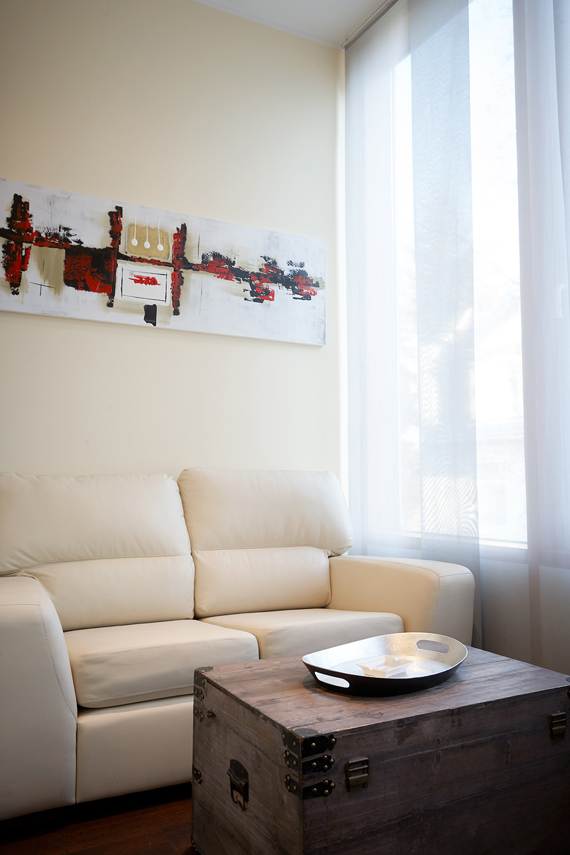 Sofa at 343 Boardinghouse Apartments