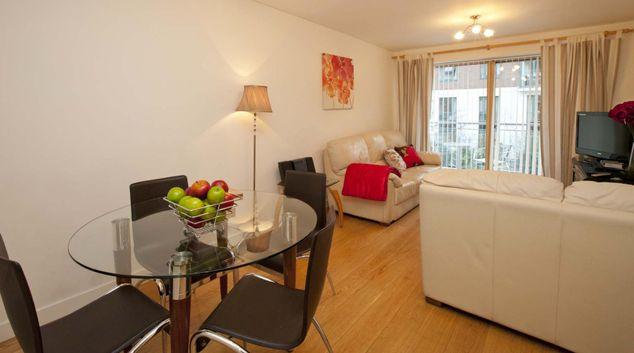 Living room at Alexandra Walk Apartments