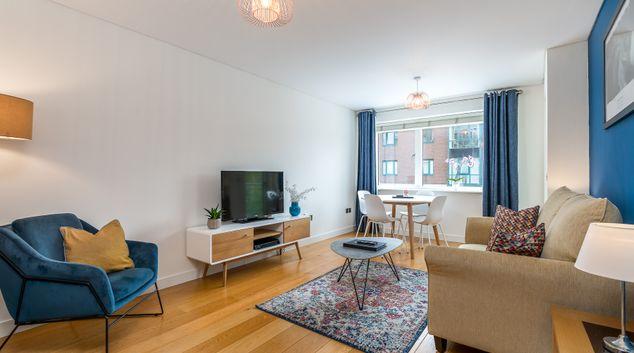 Living space at Alexandra Walk Apartments, Temple Bar, Dublin
