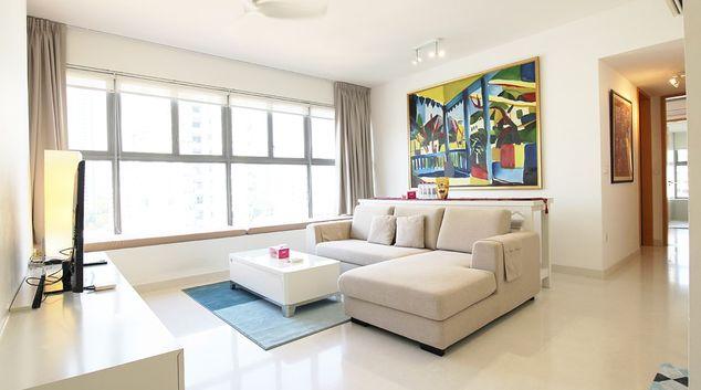 Living room at D'mira Apartments, Singapore