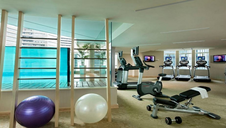 Fully-equipped gym in Ascott Raffles Place Singapore Apartments, Singapore
