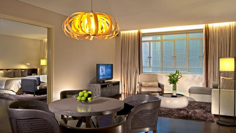 Living room at Ascott Raffles Place Singapore Apartments, Singapore