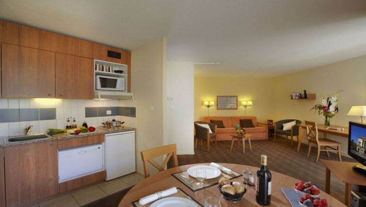 Contemporary kitchen in Citadines Antigone Apartments