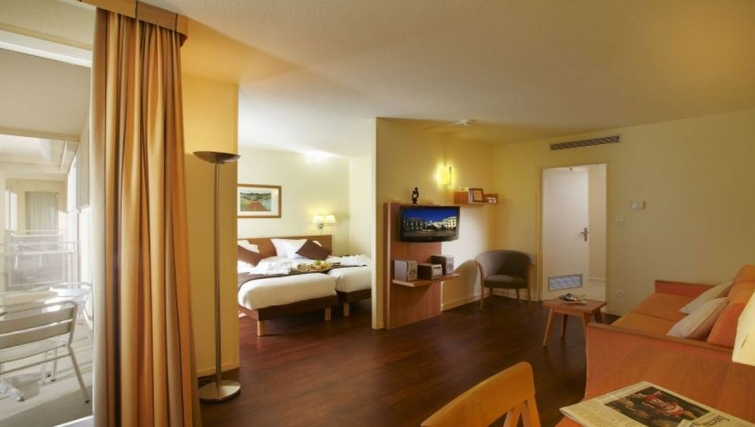 Smart living area in Citadines Antigone Apartments