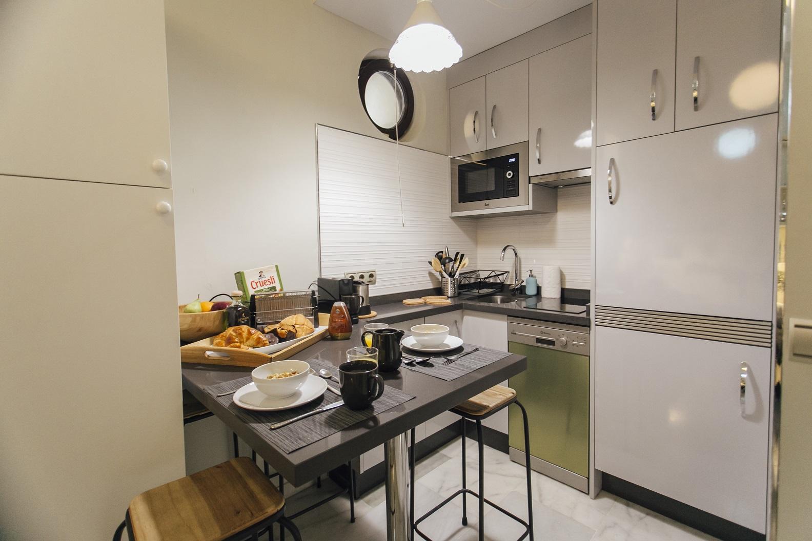 Kitchen at Dean Miranda Apartment