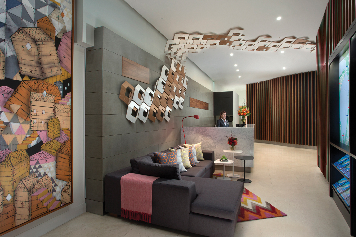 Lobby at Citadines St George Terrace Apartments