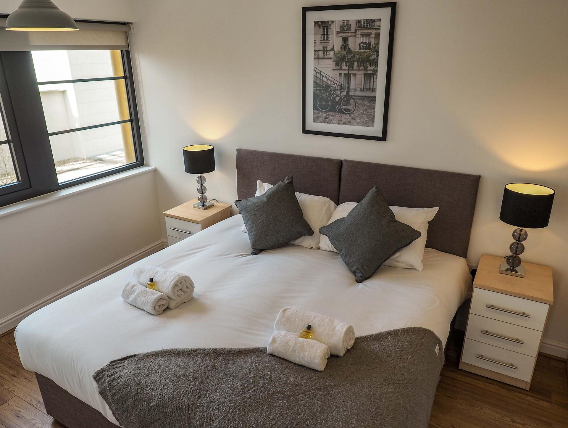 Bedroom at Wessex Court Serviced Apartment