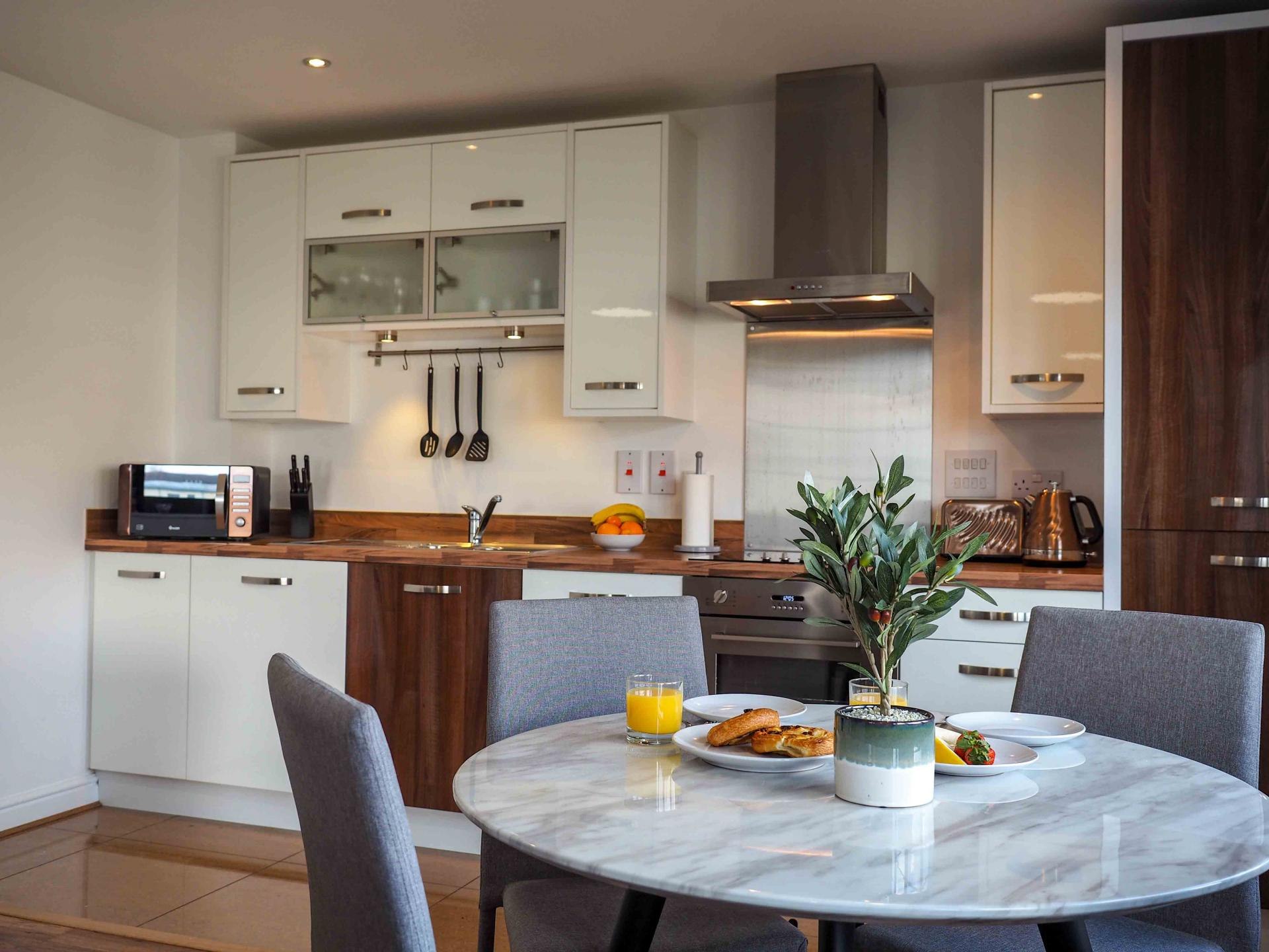 Dining table at Wessex Court Serviced Apartment