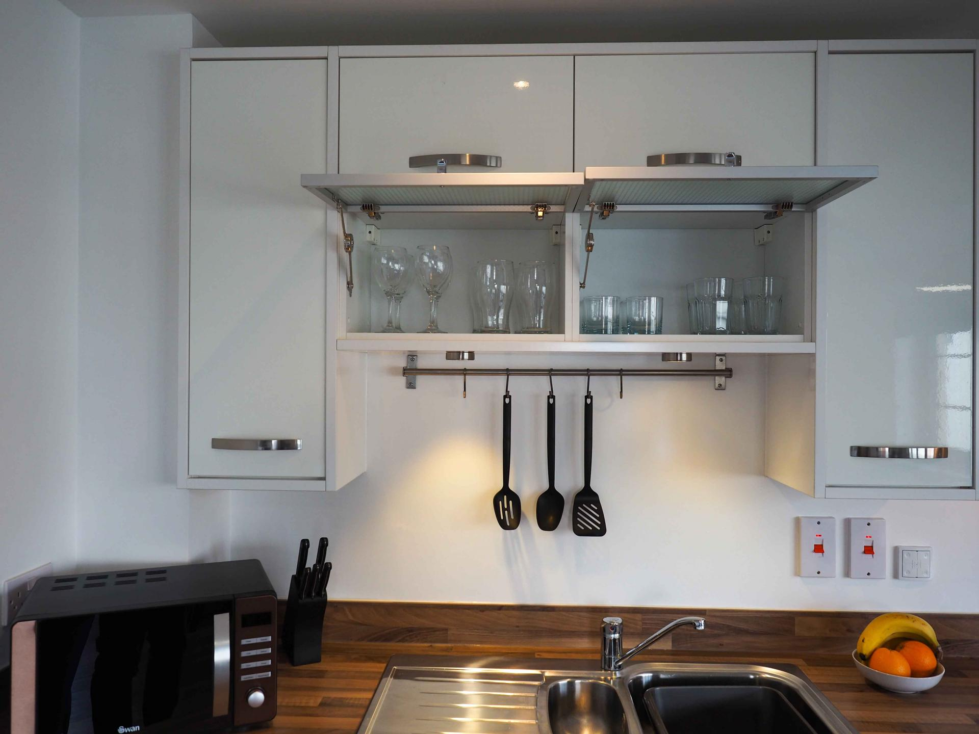 Kitchen facilities at Wessex Court Serviced Apartment