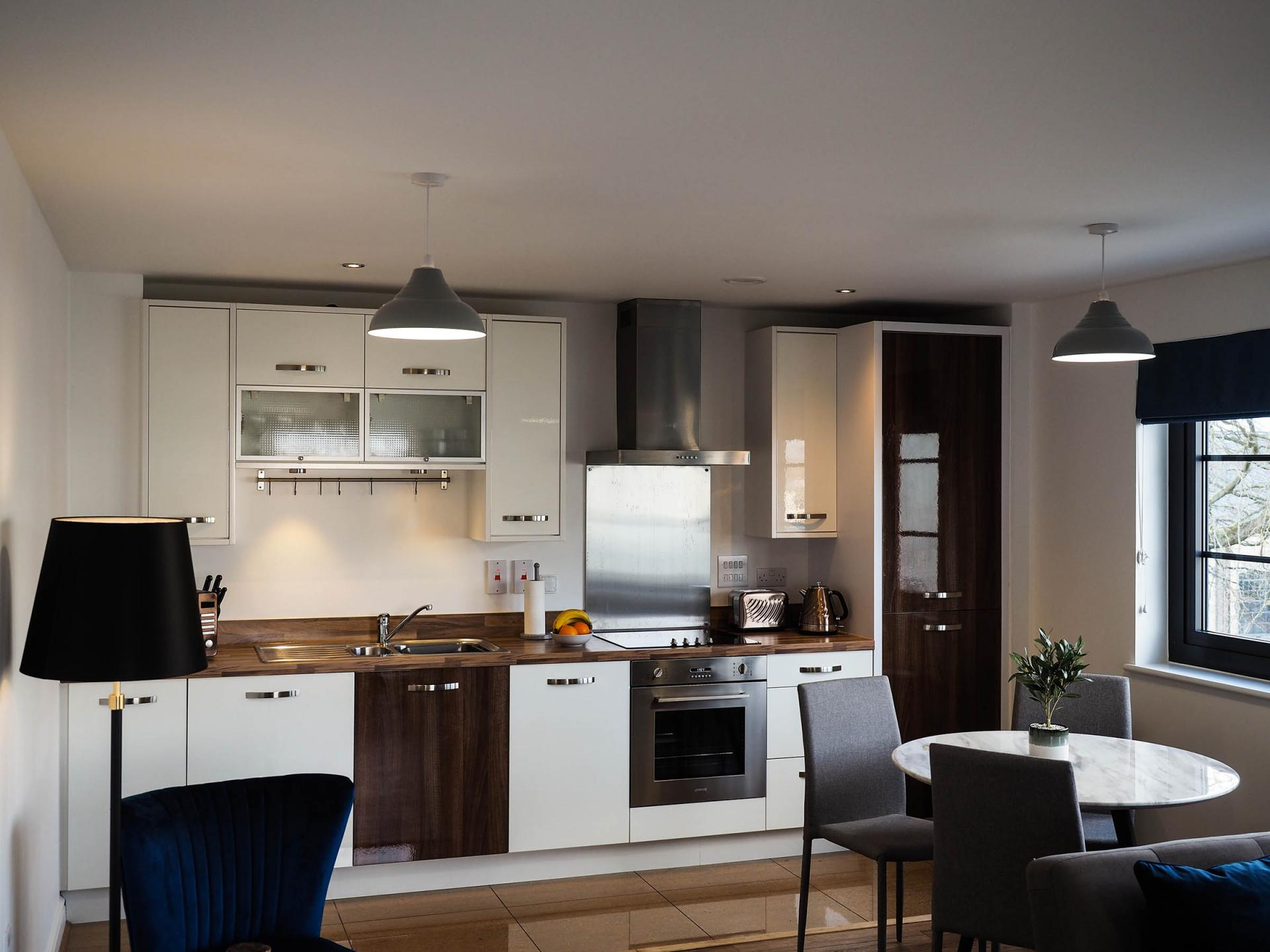 Kitchen at Wessex Court Serviced Apartment