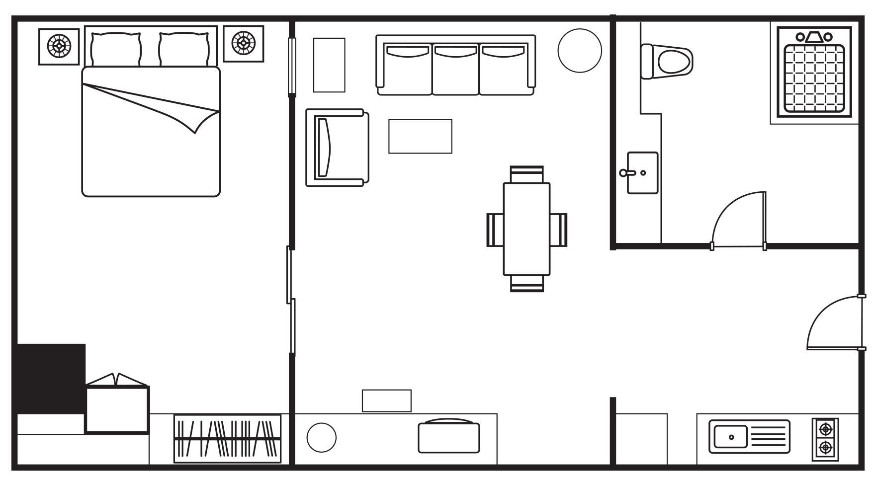 Floorplan 1 at Somerset Elizabeth Apartments