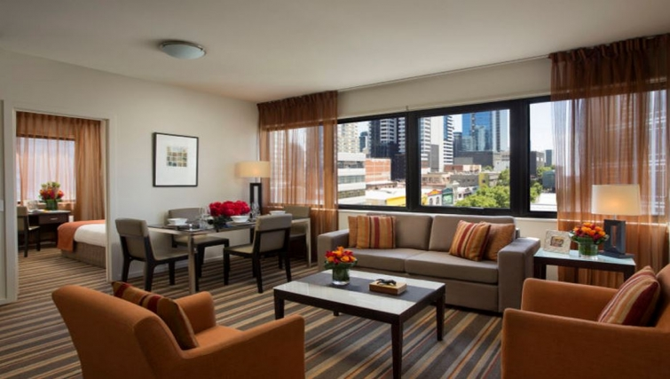 Stunning living area in Somerset Elizabeth Apartments