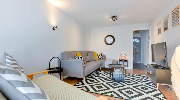 Living room at Laburnum by the Sea Apartment