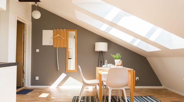 Living area at Skvadronsgatan Apartments