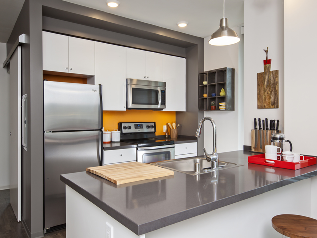Kitchen facilities at Ava 55 Apartments