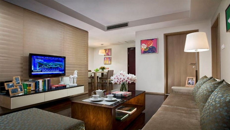 Spacious living area in Somerset JieFangBei Apartments
