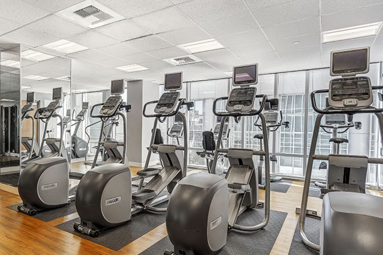 Gym at Mission Street Apartment