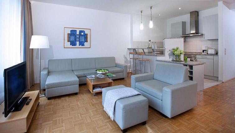 Spacious living area in Lindner Boardinghouse Rheinhof
