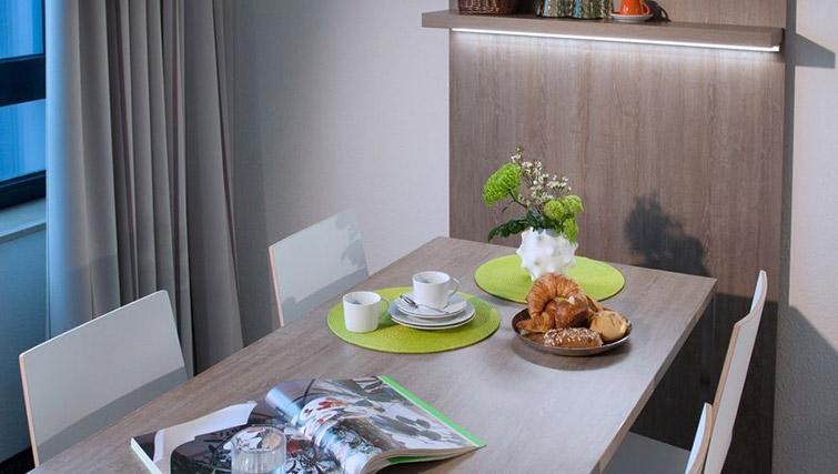 Dining area at Lindner Messe Residence Dusseldorf