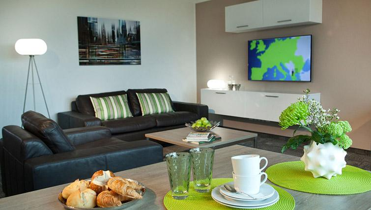 Bright living area at Lindner Messe Residence Dusseldorf