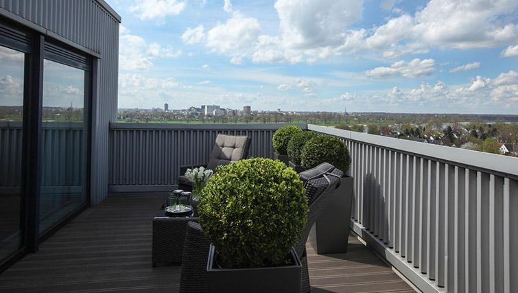 Penthouse terrace at Lindner Messe Residence Dusseldorf