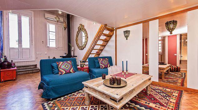 Living room at Ethnic Eixample Apartment, Eixample, Barcelona
