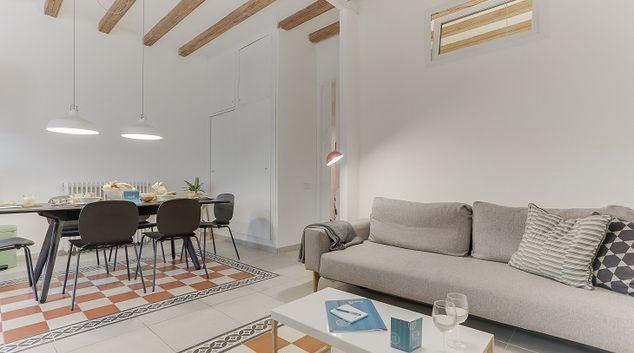 Living area at Gracia Center Apartments