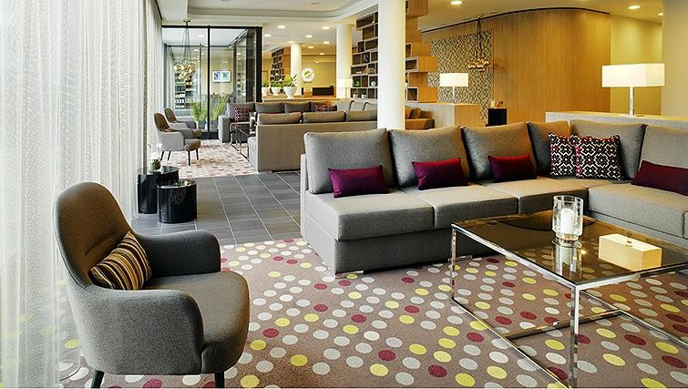 Communal lounge at Element Frankfurt Airport Apartments