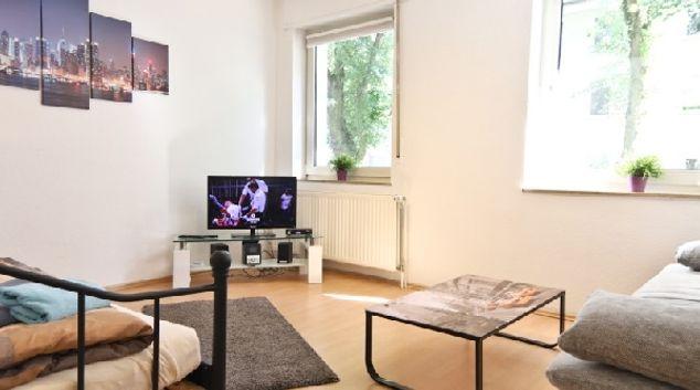 Living room at Gelsenkirchen Apartments