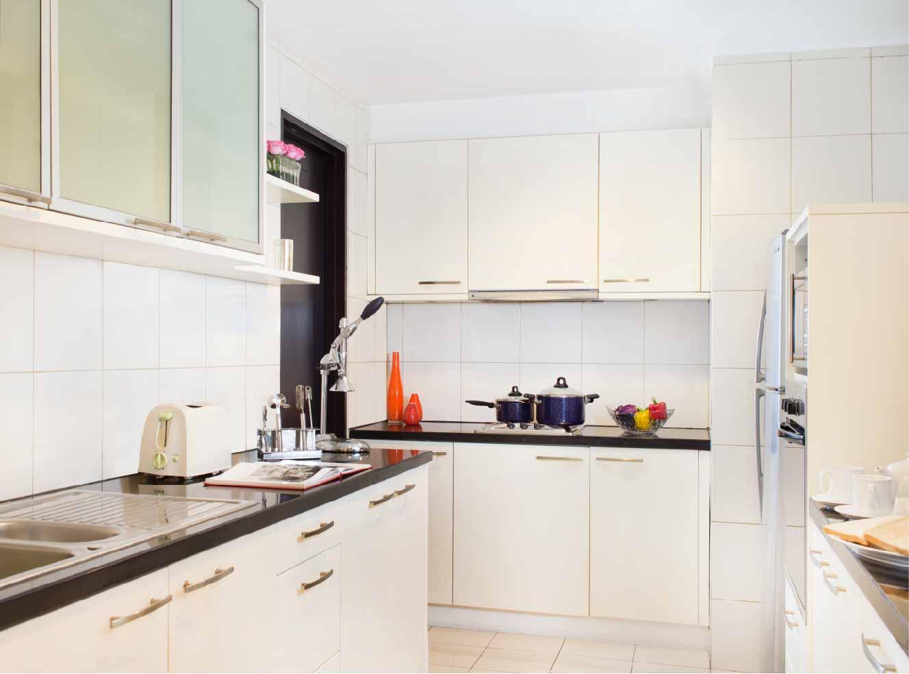 Kitchen at Somerset Berlian Apartments