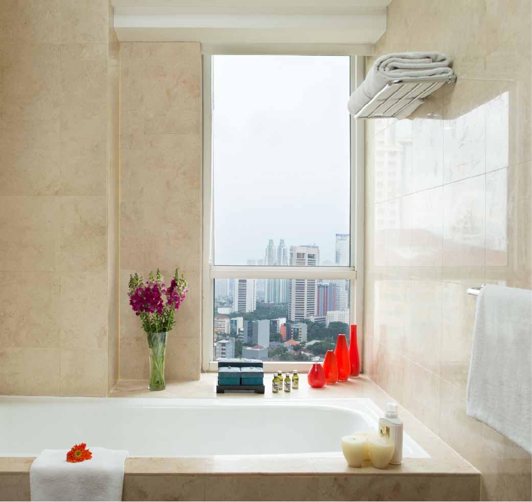 Bathroom at Somerset Berlian Apartments