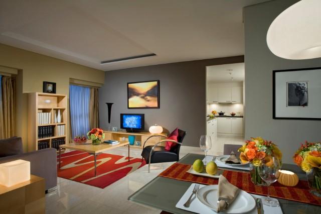 Spacious living area at Somerset Berlian Apartments