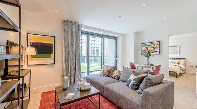 Living area at Wembley Park Apartments
