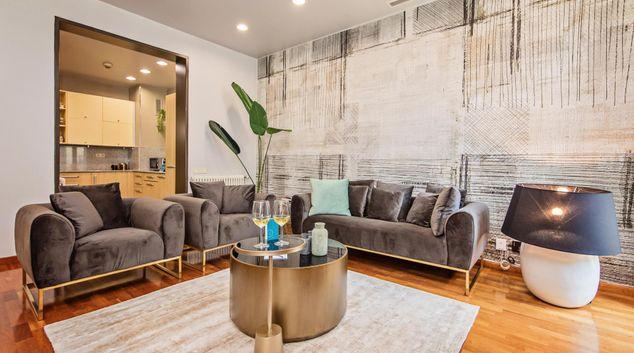 Living room at Plaza Catalunya Apartment