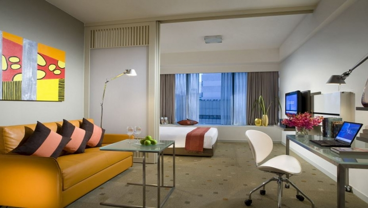 Stunning living area in Citadines Mount Sophia Apartments, Singapore