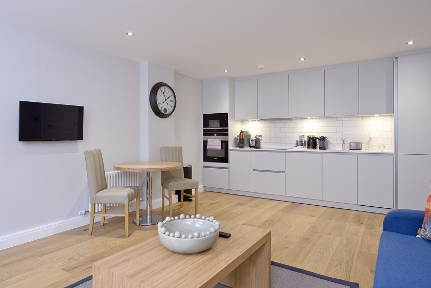 Kitchen at New Town Serviced Apartments