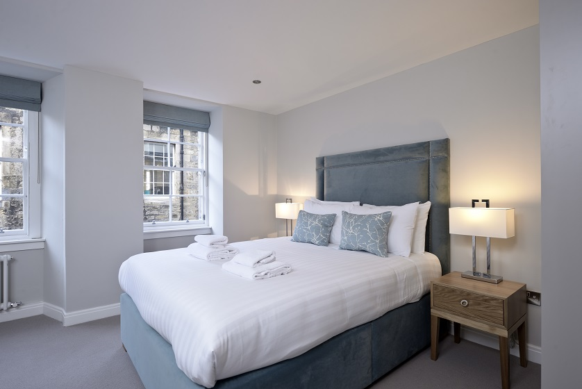 Modern bedroom at New Town Serviced Apartments