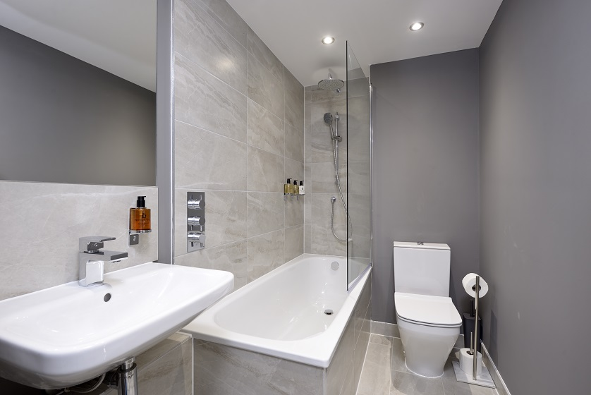 Bath at New Town Serviced Apartments