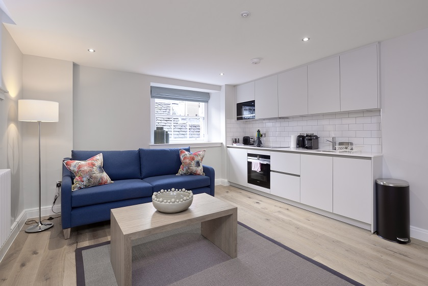 Living room at New Town Serviced Apartments