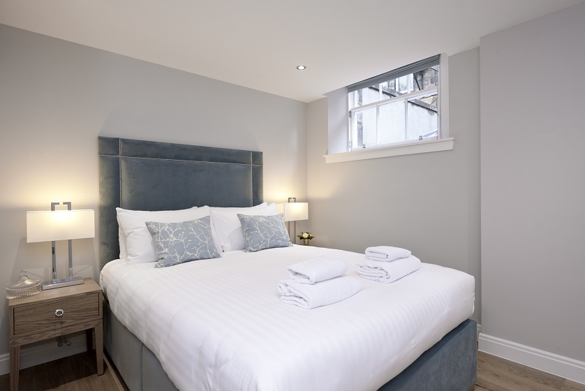 Cosy bedroom at New Town Serviced Apartments