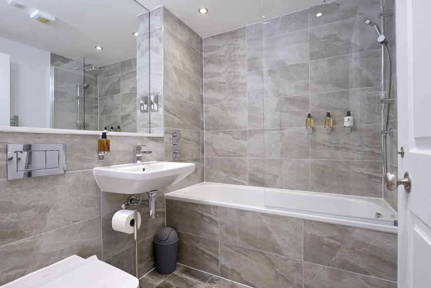 Modern bathroom at New Town Serviced Apartments