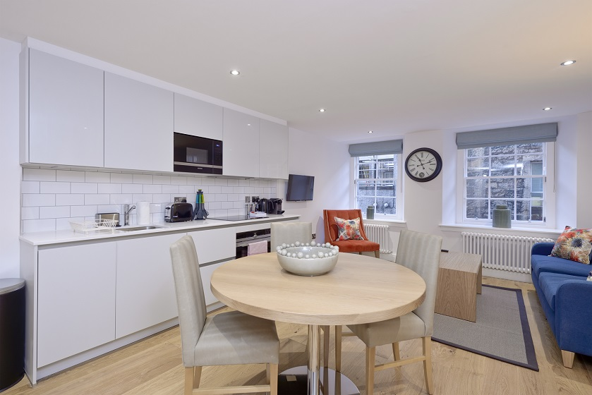 Dining table at New Town Serviced Apartments