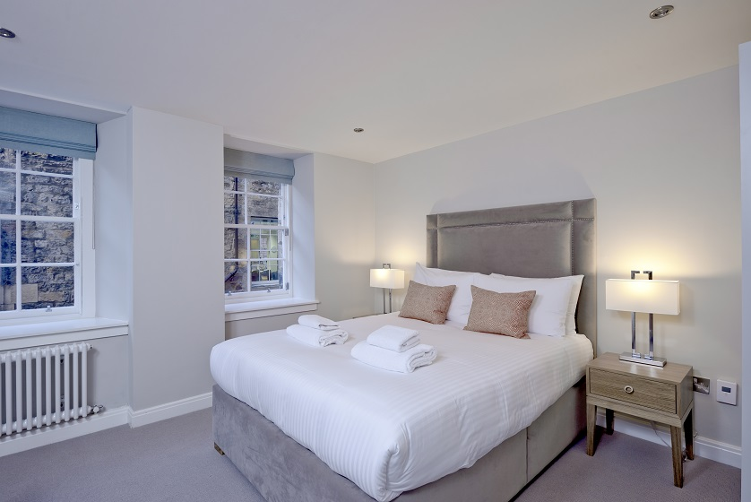Large bedroom at New Town Serviced Apartments