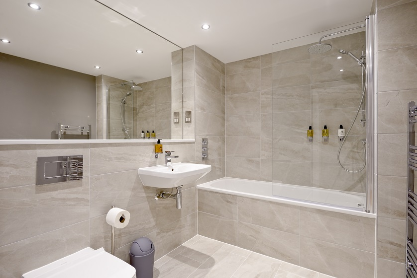 Contemporary bathroom at New Town Serviced Apartments