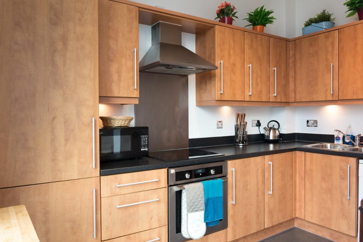 Kitchen at Dazzon Apartments