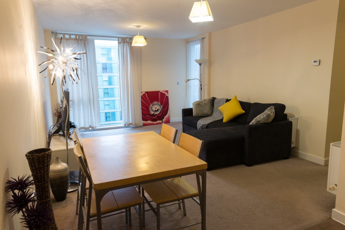 Dining table at Dazzon Apartments