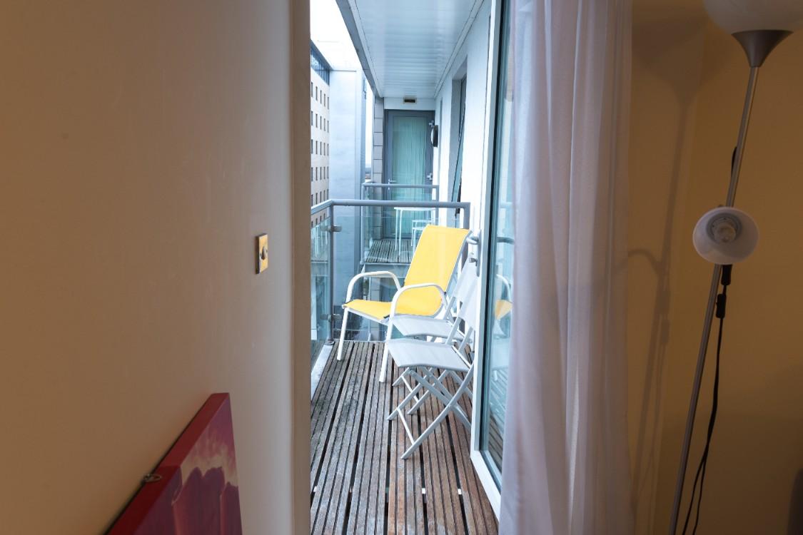 Balcony at Dazzon Apartments