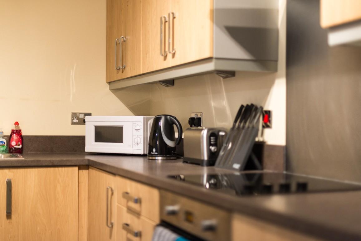 Kitchen facilities at Dazzon Apartments