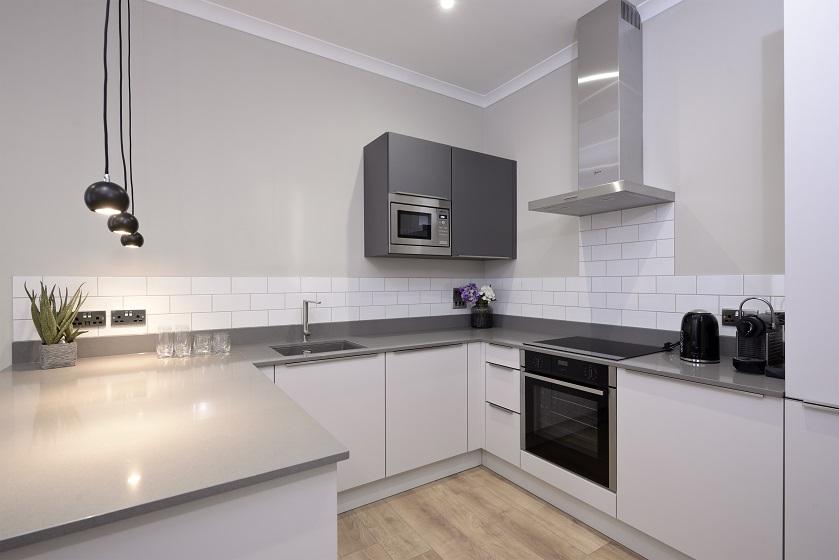 Kitchen at Charlotte Square Apartments